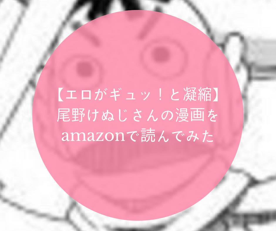 【エロがギュッ!と凝縮】尾野けぬじさんの漫画をamazonで読んでみた