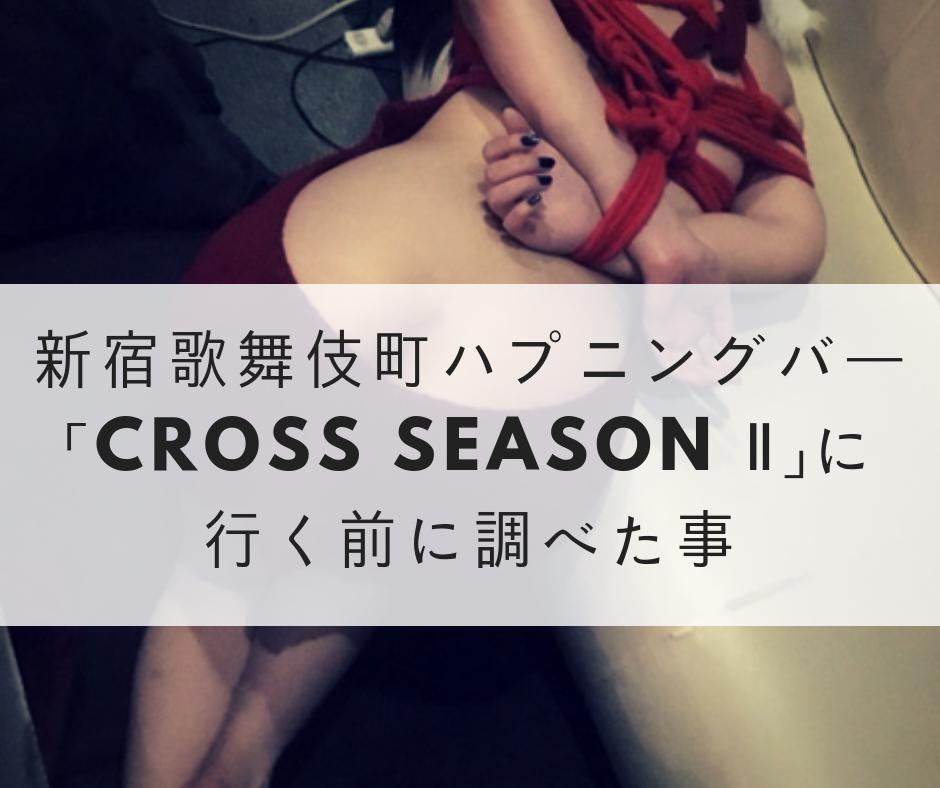 新宿歌舞伎町ハプニングバー「Cross Season Ⅱ」に行く前に調べた事